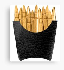 Bullet Fries Canvas Print