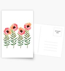 Watercolor Flower Postcards