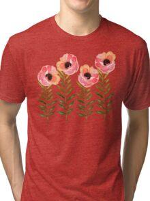Watercolor Flower Tri-blend T-Shirt