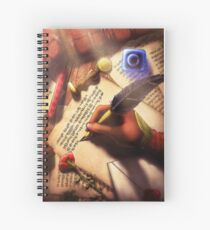 The Writer (Digital Illustration) Spiral Notebook