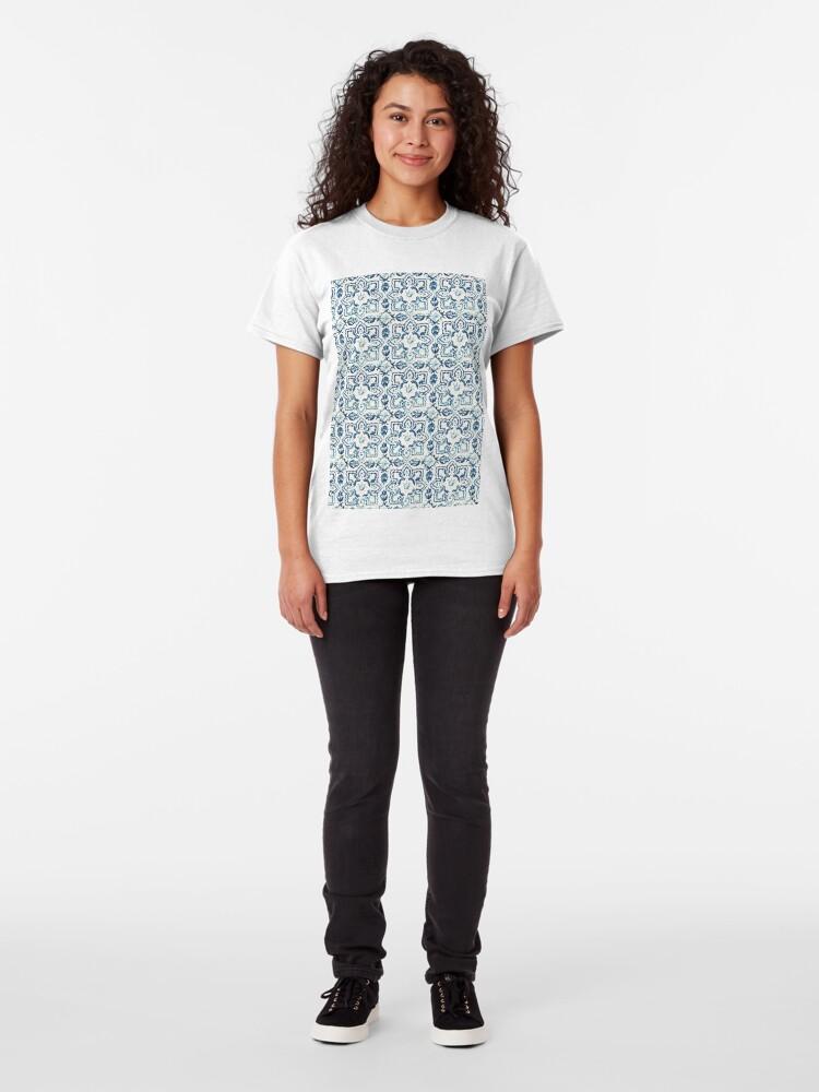 Alternate view of Portuguese Azulejos VIII Classic T-Shirt