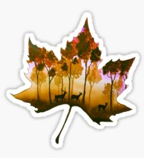 Forest Leaf Yellow Sticker