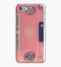 Pink camper van iPhone Case/Skin