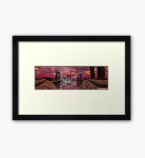 TEMPLE OF WATER /HYPERION WORLD ,Sci-Fi Movie Framed Print