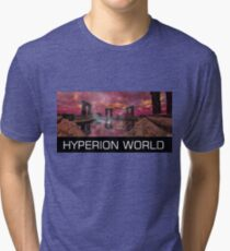 TEMPLE OF WATER /HYPERION WORLD ,Sci-Fi Movie Tri-blend T-Shirt