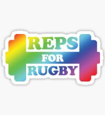 Retro Reps for Rugby - Rainbow Sticker