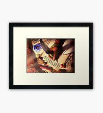 The Writer (Digital Illustration) - Rotated Framed Print