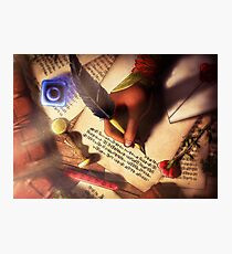The Writer (Digital Illustration) - Rotated Photographic Print