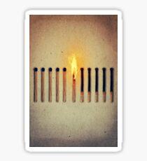 burning alone 2 Sticker