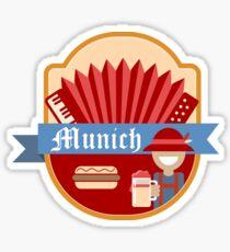Munich Germany Retro Badge Sticker