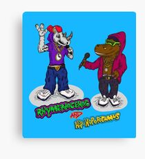 FLIGHT OF THE CONCHORDS - THE HIPHOPOPOTAMUS AND THE RHYMENOCEROS - TOGETHER ON THE ONE SHIRT Canvas Print