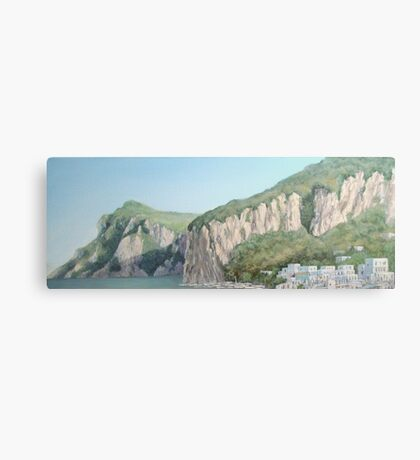 Cliffs of Marina Grande Canvas Print