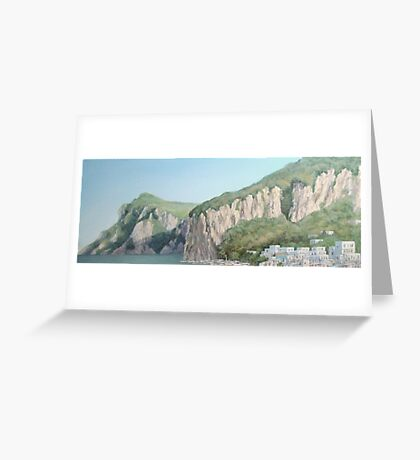 Cliffs of Marina Grande Greeting Card