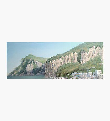 Cliffs of Marina Grande Photographic Print