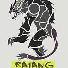 The Raging Gold Lion by drakenwrath