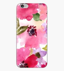 Watercolor Flowers Pink iPhone Case