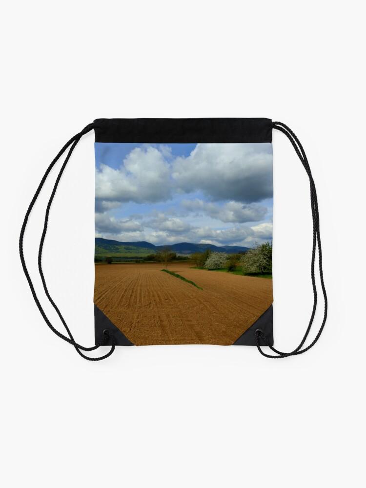 Alternate view of Rural scenery Drawstring Bag