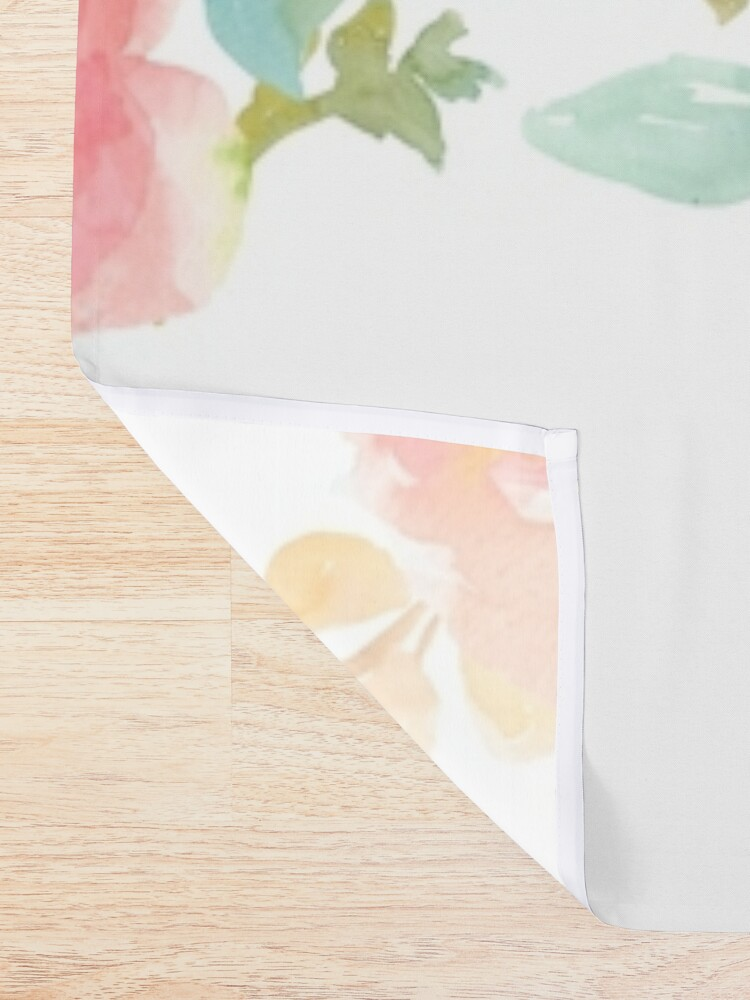 Alternate view of Peonies Watercolor Bouquet Shower Curtain