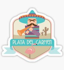 Playa Del Carmen Badge Sticker