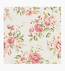 Vintage Peach Roses Photographic Print