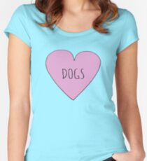 DOG LOVE Women's Fitted Scoop T-Shirt