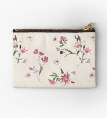 Scattered Floral on Cream Studio Pouch