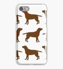 Chocolate Labradors iPhone Case/Skin