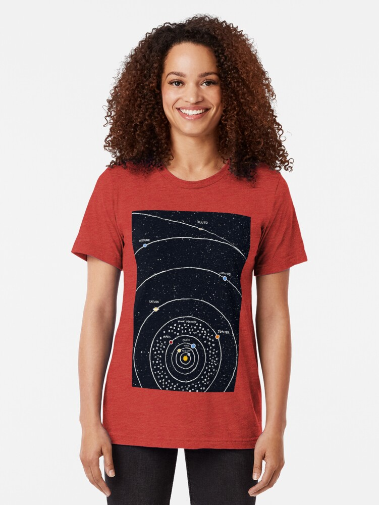 Alternate view of Solar System Tri-blend T-Shirt