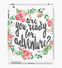 Watercolor Flower Wreath Ready For Adventure iPad Case/Skin