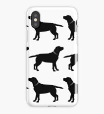 Black Labradors iPhone Case