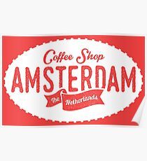 Coffee Shop Amsterdam Logo Poster
