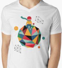Lonely planet Men's V-Neck T-Shirt