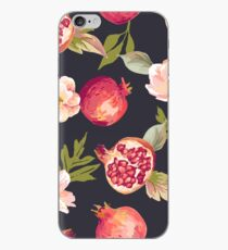 Floral Pomegranate Pattern iPhone Case