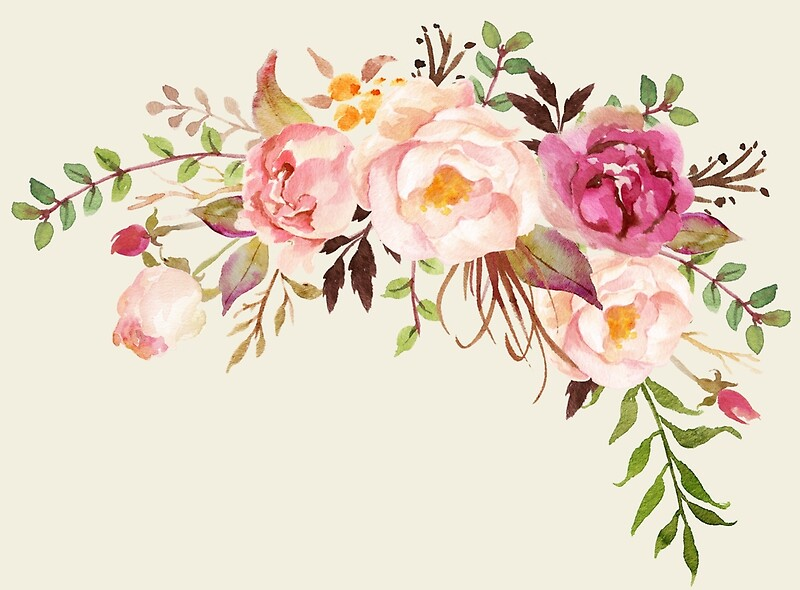 Quot Romantic Watercolor Flower Bouquet Quot Art Prints By