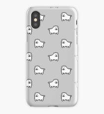 Undertale Annoying Dog - Grey iPhone Case
