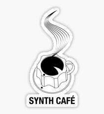 Synth Cafè - White Logo 2016 Sticker