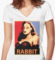 Jessica Rabbit Women's Fitted V-Neck T-Shirt