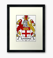 Lawrence Coat of Arms / Lawrence Family Crest Framed Print