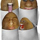 Potato  Four Pack by Gravityx9