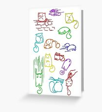 Jelly Bean Cats Greeting Card