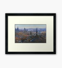Panoramic view of Lviv Framed Print