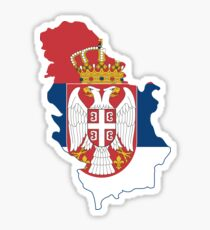 Flag Map of Serbia  Sticker