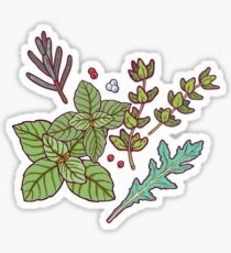 dark herbs pattern Sticker