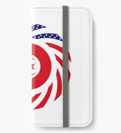 Tunisian American Multinational Patriot Flag Series iPhone Wallet