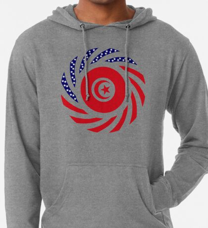 Tunisian American Multinational Patriot Flag Series Lightweight Hoodie