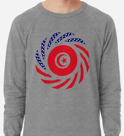 Tunisian American Multinational Patriot Flag Series Lightweight Sweatshirt