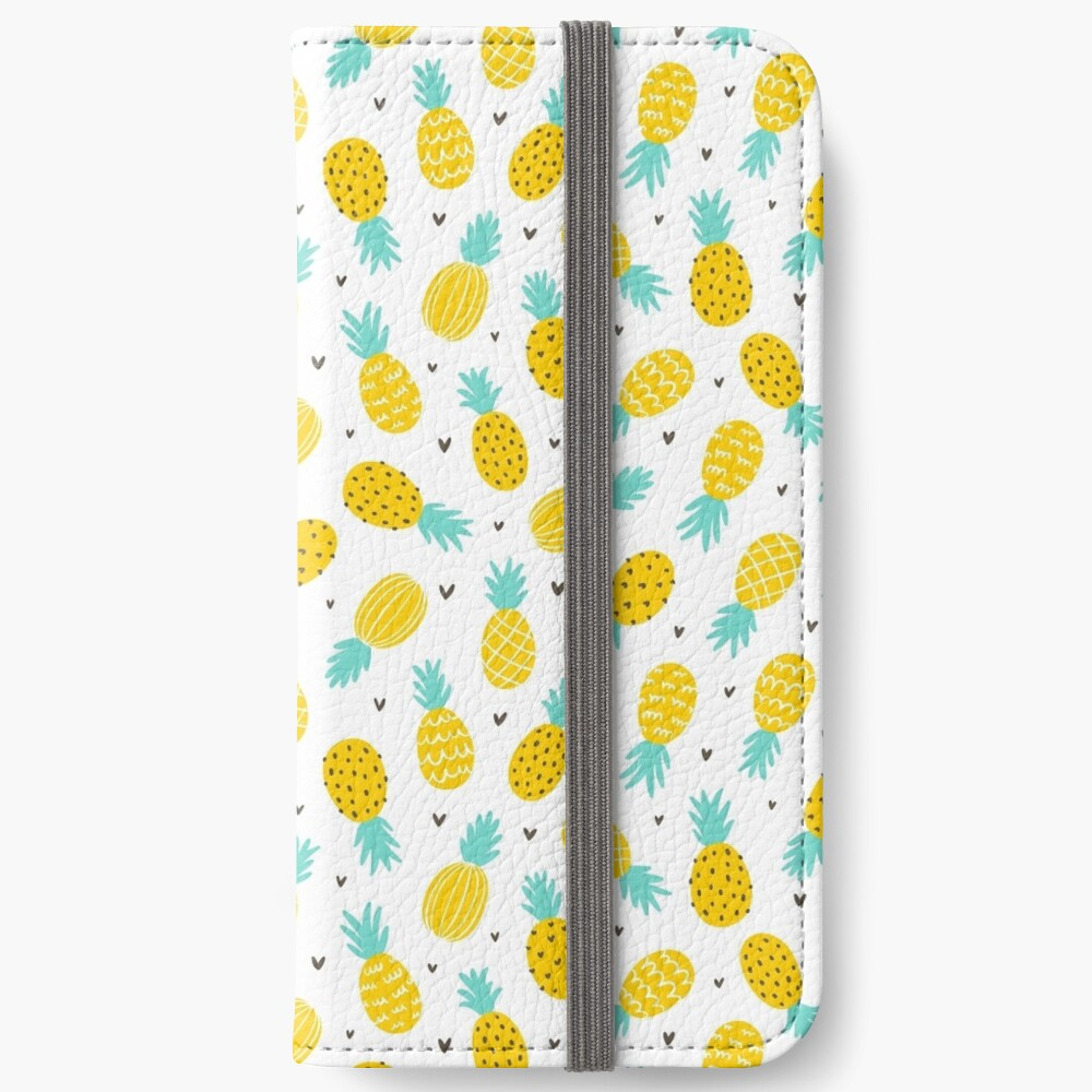 Pineapple and hearts iPhone Wallet
