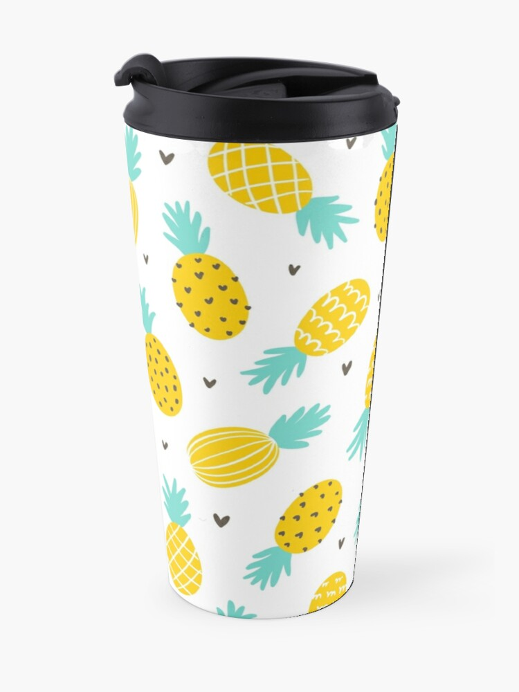 Alternate view of Pineapple and hearts Travel Mug