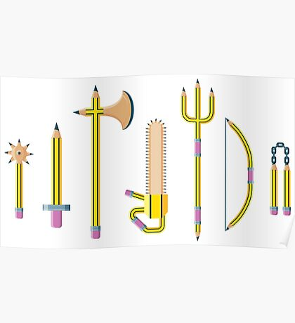 Pencil Weaponry Poster