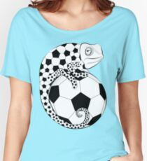 Soccer  Chameleon  Women's Relaxed Fit T-Shirt